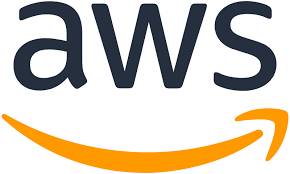 Amazon Web Services logo with the arrow smile underneath